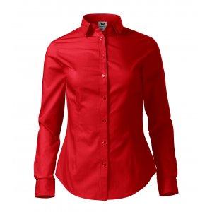 Dámská košile s dlouhým rukávem MALFINI STYLE LS 229 ČERVENÁ