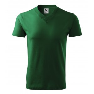 Pánské triko MALFINI V-NECK 102 LAHVOVĚ ZELENÁ