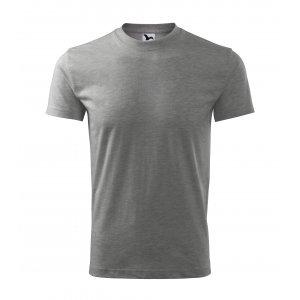 Pánské triko MALFINI CLASSIC 101 TMAVĚ ŠEDÝ MELÍR