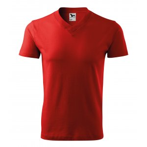 Pánské triko MALFINI V-NECK 102 ČERVENÁ