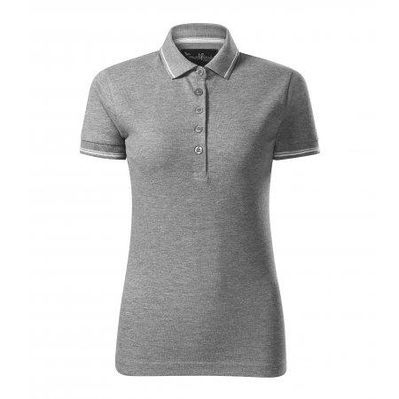 Dámské triko s límečkem MALFINI PREMIUM PERFECTION PLAIN 253 TMAVĚ ŠEDÝ MELÍR