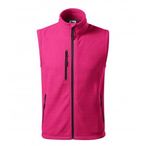 Pánská fleecová vesta MALFINI EXIT 525 PURPUROVÁ