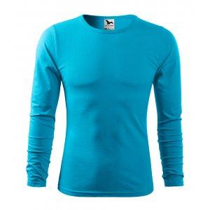 Pánské triko s dlouhým rukávem MALFINI FIT-T LS 119 TYRKYSOVÁ