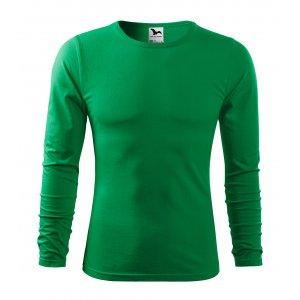 Pánské triko s dlouhým rukávem MALFINI FIT-T LS 119 STŘEDNĚ ZELENÁ