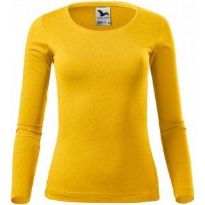 Dámské triko s dlouhým rukávem MALFINI FIT-T LS 169 ŽLUTÁ