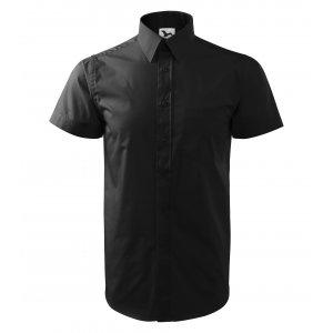 Pánská košile s krátkým rukávem MALFINI CHIC 207 ČERNÁ