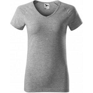 Dámské triko MALFINI DREAM 128 TMAVĚ ŠEDÝ MELÍR