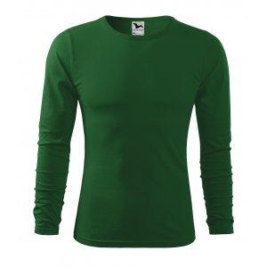 Pánské triko s dlouhým rukávem MALFINI FIT-T LS 119 LAHVOVĚ ZELENÁ