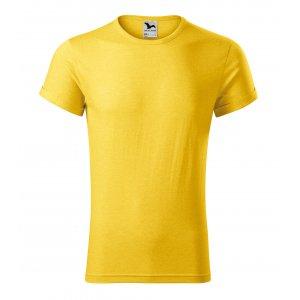 Pánské triko MALFINI FUSION 163 ŽLUTÝ MELÍR