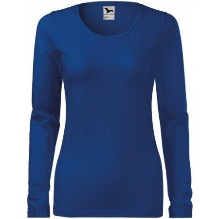 Dámské triko s dlouhým rukávem MALFINI SLIM 139 KRÁLOVSKÁ MODRÁ