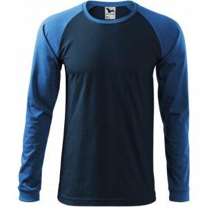 Pánské triko s dlouhým rukávem MALFINI STREET LS 130 NÁMOŘNÍ MODRÁ
