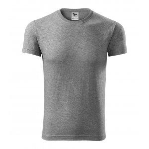 Pánské triko MALFINI VIPER 143 TMAVĚ ŠEDÝ MELÍR