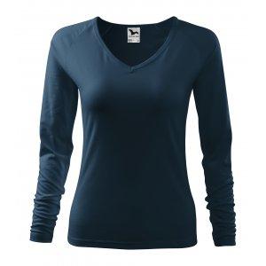 Dámské triko s dlouhým rukávem MALFINI ELEGANCE 127 NÁMOŘNÍ MODRÁ