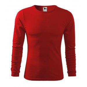 Pánské triko s dlouhým rukávem MALFINI FIT-T LS 119 ČERVENÁ