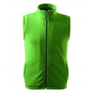 Pánská fleecová vesta RIMECK NEXT 518 TRÁVOVĚ ZELENÁ