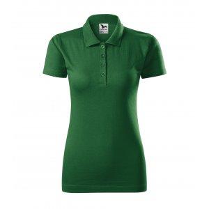 Dámské triko s límečkem MALFINI SINGLE J. 223 LAHVOVĚ ZELENÁ