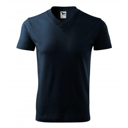 Pánské triko MALFINI V-NECK 102 NÁMOŘNÍ MODRÁ