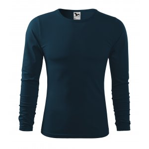 Pánské triko s dlouhým rukávem MALFINI FIT-T LS 119 NÁMOŘNÍ MODRÁ