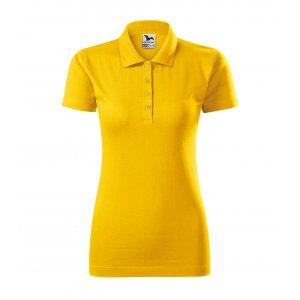 Dámské triko s límečkem MALFINI SINGLE J. 223 ŽLUTÁ