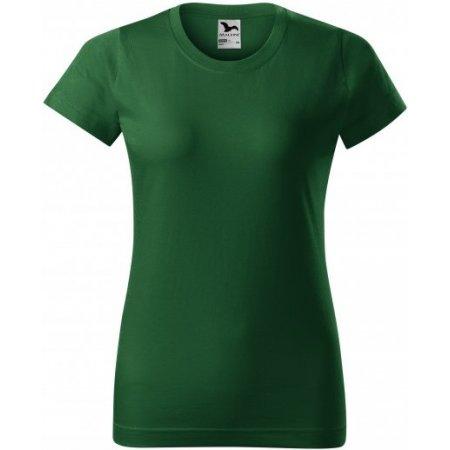 Dámské triko MALFINI BASIC 134 LAHVOVĚ ZELENÁ