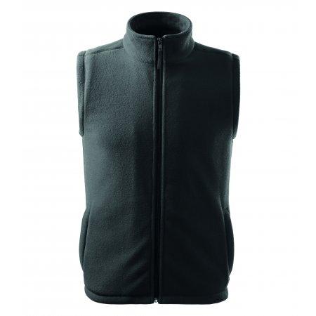 Pánská fleecová vesta RIMECK NEXT 518 OCELOVĚ ŠEDÁ