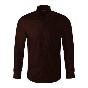 Pánská košile s dlouhým rukávem MALFINI PREMIUM DYNAMIC 262 KÁVOVÁ