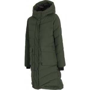 Dámský zimní kabát 4F D4Z20-KUDP203 KHAKI