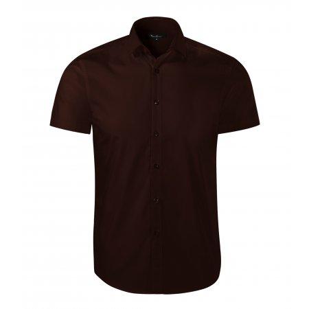 Pánská košile s krátkým rukávem MALFINI PREMIUM FLASH 260 KÁVOVÁ