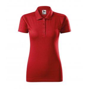 Dámské triko s límečkem MALFINI SINGLE J. 223 ČERVENÁ