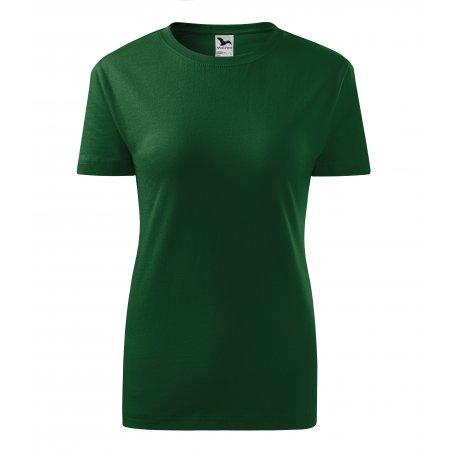 Dámské triko MALFINI CLASSIC NEW 133 LAHVOVĚ ZELENÁ
