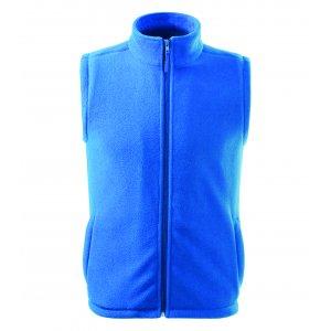Pánská fleecová vesta RIMECK NEXT 518 AZUROVĚ MODRÁ