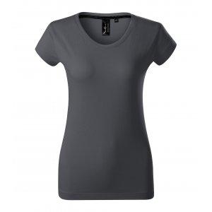 Dámské triko s krátkým rukávem MALFINI PREMIUM EXCLUSIVE 154 LIGHT ANTHRACITE