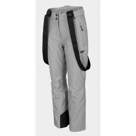 Dámské lyžařské kalhoty 4F D4Z20-SPDN300 MIDDLE GREY MELANGE