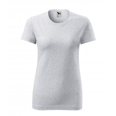 Dámské triko MALFINI CLASSIC NEW 133 SVĚTLE ŠEDÝ MELÍR
