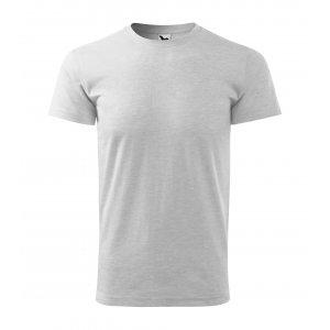 Pánské triko MALFINI BASIC 129 SVĚTLE ŠEDÝ MELÍR