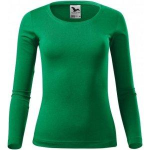 Dámské triko s dlouhým rukávem MALFINI FIT-T LS 169 STŘEDNĚ ZELENÁ