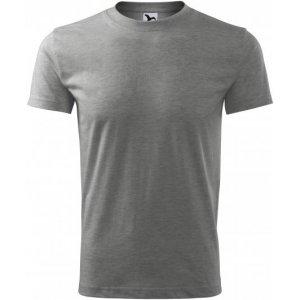 Pánské triko MALFINI CLASSIC NEW 132 TMAVĚ ŠEDÝ MELÍR