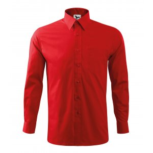 Pánská košile s dlouhým rukávem MALFINI STYLE LS 209 ČERVENÁ
