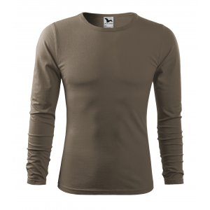Pánské triko s dlouhým rukávem MALFINI FIT-T LS 119 ARMY