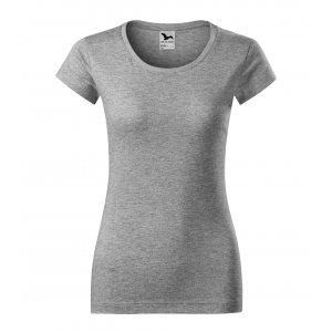 Dámské triko MALFINI VIPER 161 TMAVĚ ŠEDÝ MELÍR