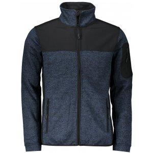 Pánská softshellová bunda MALFINI CASUAL 550 KNIT BLUE
