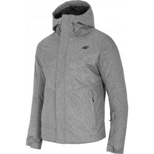 Pánská lyžařská bunda 4F D4Z20-KUMN351 GREY MELANGE