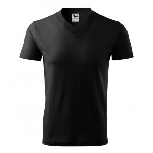 Pánské triko MALFINI V-NECK 102 ČERNÁ