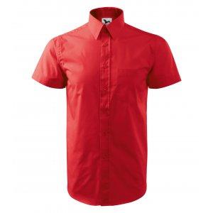 Pánská košile s krátkým rukávem MALFINI CHIC 207 ČERVENÁ