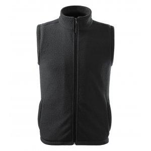 Pánská fleecová vesta RIMECK NEXT 518 EBONY GRAY