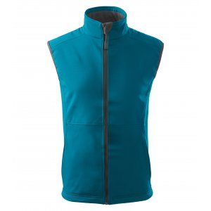 Pánská softshellová vesta MALFINI VISION 517 TMAVÝ TYRKYS