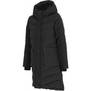Dámský zimní kabát 4F D4Z20-KUDP203 DEEP BLACK