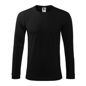 Pánské triko s dlouhým rukávem MALFINI STREET LS 130 ČERNÁ