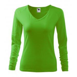 Dámské triko s dlouhým rukávem MALFINI ELEGANCE 127 APPLE GREEN