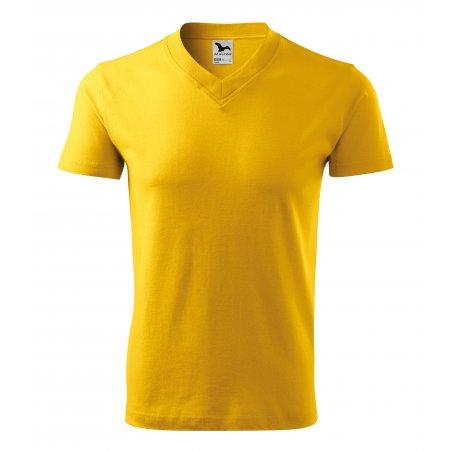 Pánské triko MALFINI V-NECK 102 ŽLUTÁ